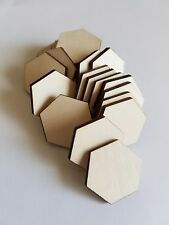 Unfinished DIY Wooden Hexagon Cut Outs ( Embellishments etc...)