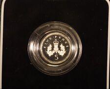 1990 United Kingdom Five Pence Silver Proof w/Box&COA   ** FREE U.S. SHIPPING **
