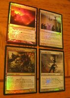 Foil Friday Night Magic & WPN Promotional Card Lot 2, LP-HP with slight crease