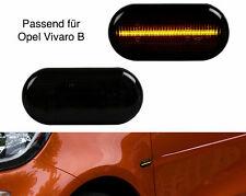 2 X LED SEITENBLINKER BLINKER SMOKE SCHWARZ Opel Vivaro B SB23