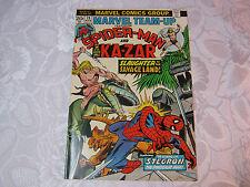 SPIDER-MAN AND KA-ZAR MARVEL TEAM-UP  NO 19 MAR MARVEL COMIC  T*