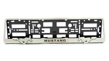 Metal Frame Holder For European License Plate Stainless For Mustang