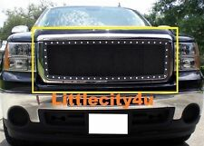For 07~13 GMC Sierra 1500 Black Wire Mesh Rivet Stud Grille Insert LC