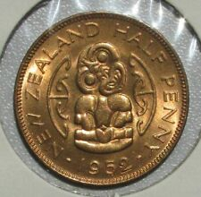 New Zealand 1952 Half Penny, Gem BU Blazing Red