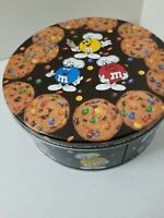Vintage M&M's Candy Chocolate Chip Cookie Metal Tin Classic Item Great For Gift