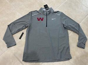 Washington Football Team Nike 2020 Dri Fit Training 1/4 Zip Gray Jacket Mens XL