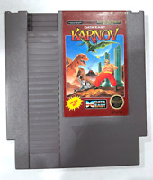 Karnov ORIGINAL NINTENDO NES GAME CARTRIDGE Tested ++ WORKING ++ AUTHENTIC!