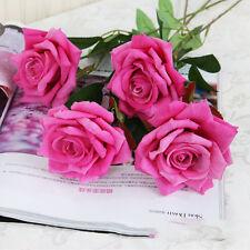 Romantic Artifical Fake Rose Silk Flower Bouquet Wedding Office Party Home Decor