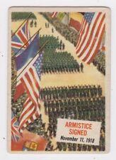 TOPPS 1954 SCOOP CARD #47 ARMISTICE SIGNED, WAR ENDS, NOV. 11, 1918