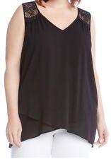 Karen Kane Lace Yoke Crossover Top. Size 3X. $98.00.