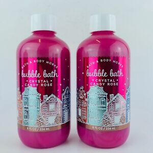 2-Pack Bath & Body Works Crystal Candy Rose Bubble Bath 8 fl.oz