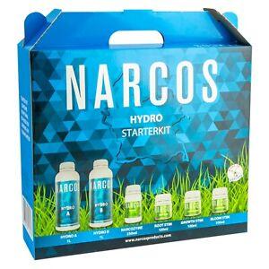 Narcos Starterset Hydro A&B Dünger Starter Kit Box Grow Indoor mit Schema