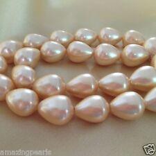 13x17mm Gold Teardrop South Sea Shell Pearls Loose Beads Strand Gemstone Beads