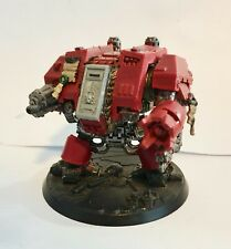 Warhammer 40k space marine dreadnought (assault cannon / power fist) painted