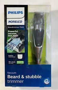 PHILIPS NORELCO Vacuum Beard & Stubble Trimmer 7500 Model BT7515/49 NEW
