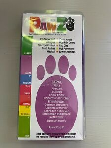 Protex Pawz Rubber Dog Boots Water-Proof Paws Disposable Reusable Large Purple