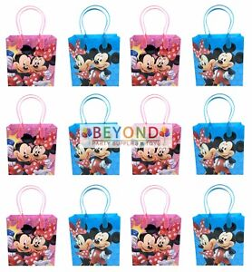 Disney Mickey & Minnie Mouse Party Favor Supplies Goody Loot Gift Bags [12ct]