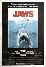 Jaws Movie Poster Signed by 5 cast members, Excellent condition replica