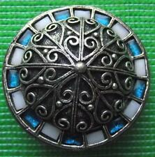 Vintage MIRACLE Scottish Celtic Pebble Brooch Pin & Presentation Pouch K