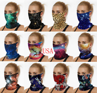 Bandana Face Mask Balaclava Covering Scarf Snood Neck Gaiter Reusable Loops Ear