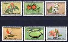 Flore - Fleurs Roumanie (75) série complète de 6 timbres oblitérés