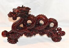 """NEW 12"""" CHINESE SNAKE DRAGON WITH FIRE PEARL FENG SHUI STATUE FIGURE PROTECTION"""