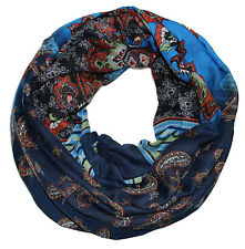 femmes foulard tube motif cachemire DESIGN BLEU ÉCHARPE TUBE écharpe tube 98521d0cf66