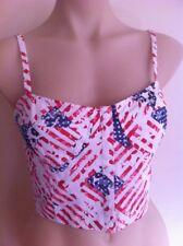 Ladies USA Bralette Top FACTORIE SIZE S 8-10 Small Crop BNWT Stars & Stripes
