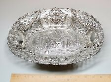 Antique Georg Roth Hanau Sterling Silver Repousse Fretted Centerpiece 527 Grams