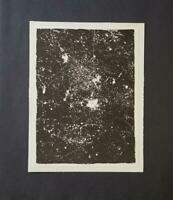 Jean Dubuffet  Geometry From Phenomena  Mounted b/w Lithograph 1973 PlateSigned