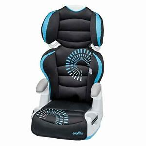 Evenflo Big Kid AMP Booster Car Seat, 6 Position Height Adjustment Toddler Boy
