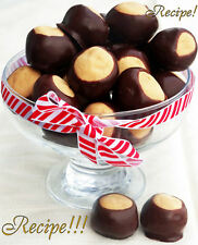 "☆Rich & Creamy!☆Buckeye Candy ""RECIPE""!☆Delectable for the Holidays!☆"