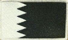 BAHRAIN Flag Patch with VELCRO® brand fastener Black & White WHITE Border #9