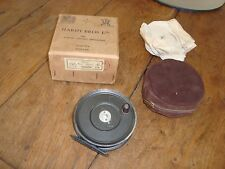 "Vintage HARDY BROTHERS UNIQUA FLY REEL, 3-5/8"" In ORIGINAL BOX. Alnwick England"