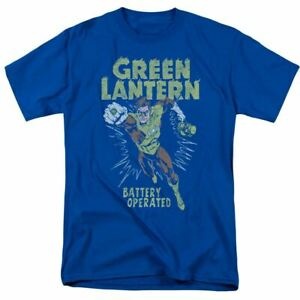 Green Lantern Fully Charged T Shirt Mens Licensed DC Comics Tee Royal Blue