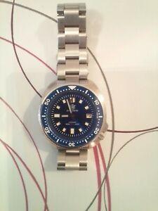 "STEELDIVE SD1970 ""BLUE CAPTAIN WILLARD"" 6105 Dive Watch *UK SELLER* *FREE STRAP"""