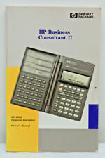 Hp 19B Ii Business Consultant Ii Calculator Owner's Manual Only 19Bii