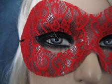 Maschera Lace Pizzo Rosso, veneziane Domino, cosplay, Shades of Grey