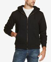 Weatherproof Vintage Men's Full Zip Sherpa Lined Fleece Hoodie Jacket Black XXL