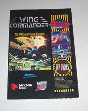 MANUALE Gioco Pc WING COMMANDER - BIG Games Jackson Libri 1994 ITA