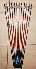 1 dozen (12)Carbon Express Maxima Red 250 Arrows with Blazer vanes -Will cut