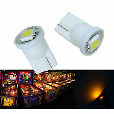 30x #555 T10 1 SMD 5050 LED Pinball Machine Light Bulb Yellow Amber 6.3V P2