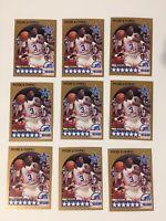 1990-91 NBA HOOPS #4 PATRICK EWING ALL-STAR NEW YORK KNICKS LOT OF 9