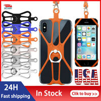 Phone Case - Silicone Lanyard Case Cover Holder Sling Neck Strap For Cell Phone