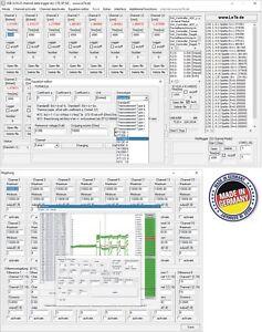 Multichannel 16-channel data logger, temperature logger, Thermocouple