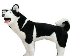 Melissa And Doug Large Plush Husky Puppy Dog Stuffed Toy Black White