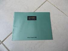 Smart City Coupé 1999 - catalogue brochure dépliant prospekt catalog