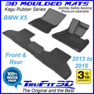 Fits BMW X5 F15 2013 - 2018 Black RUBBER 3D Car Floor Mats