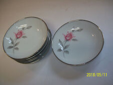 Noritake Rosemarie #6044 - Set of 6 Fruit Berry Dessert Bowls