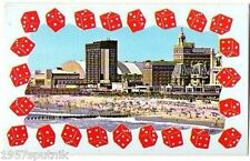 Atlantic City Beach Boardwalk old architecture Vu Vintage Postcard New Jersey v